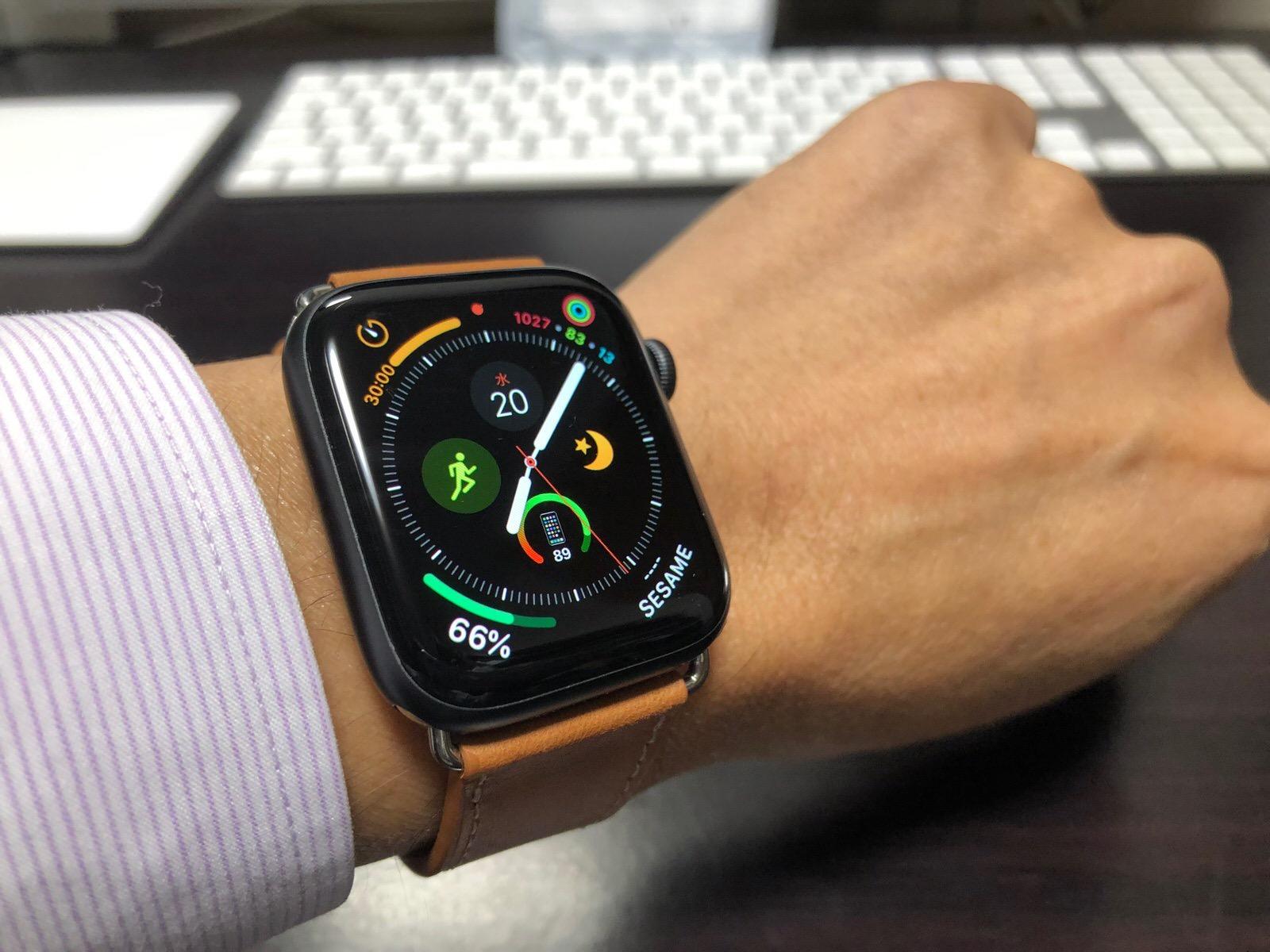 BRG コンパチブル Apple Watch Series 4(44mm)本革バンド(ブラウン)-10