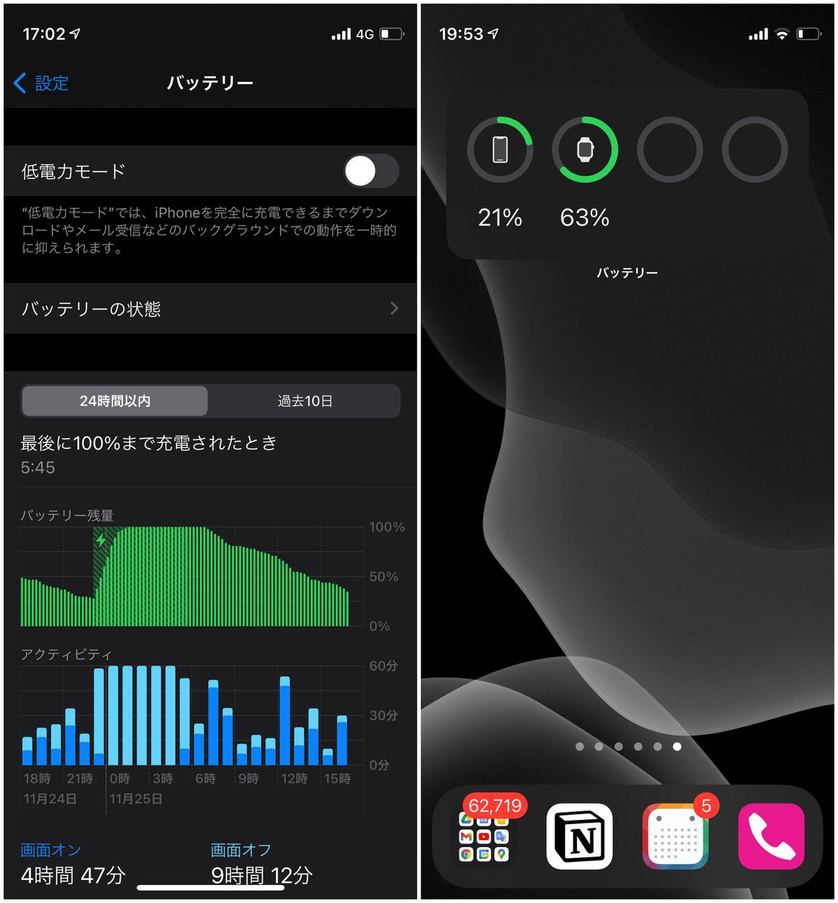 iPhone 12 mini バッテリー持ち−6