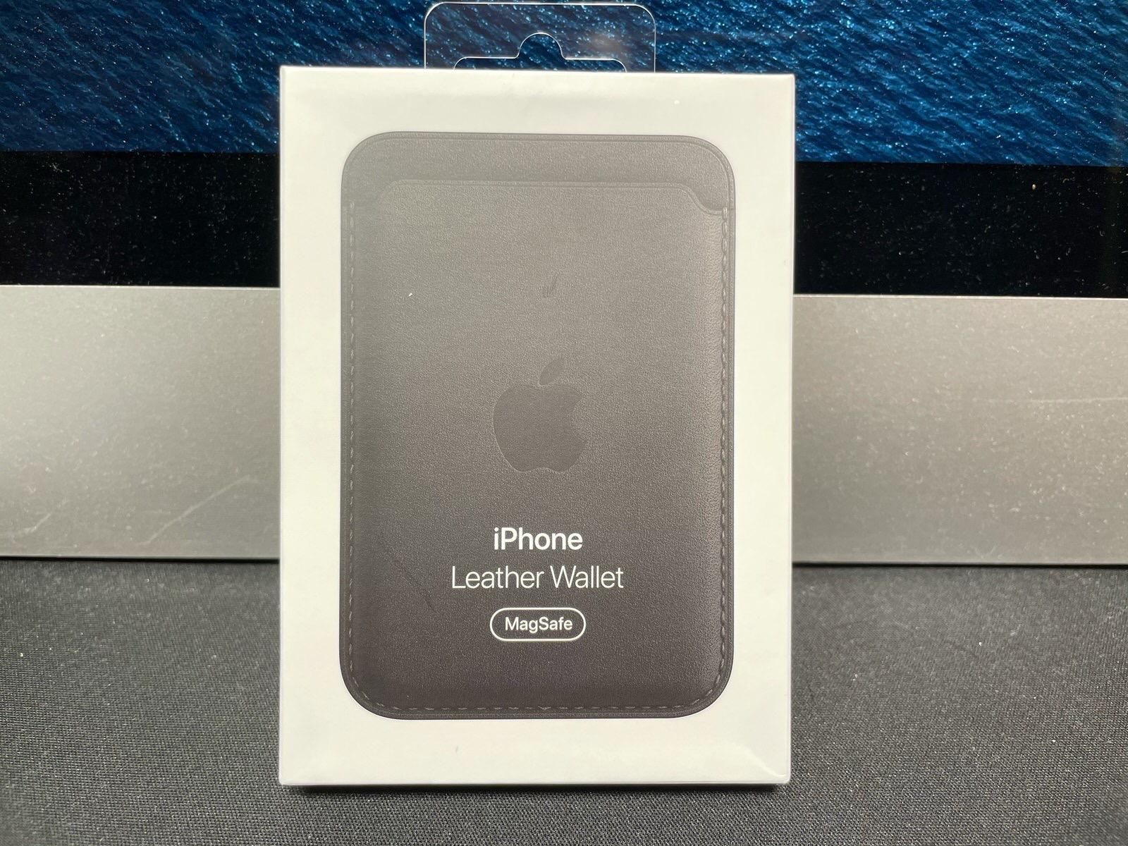 MagSafe対応iPhoneレザーウォレット - ブラック−2