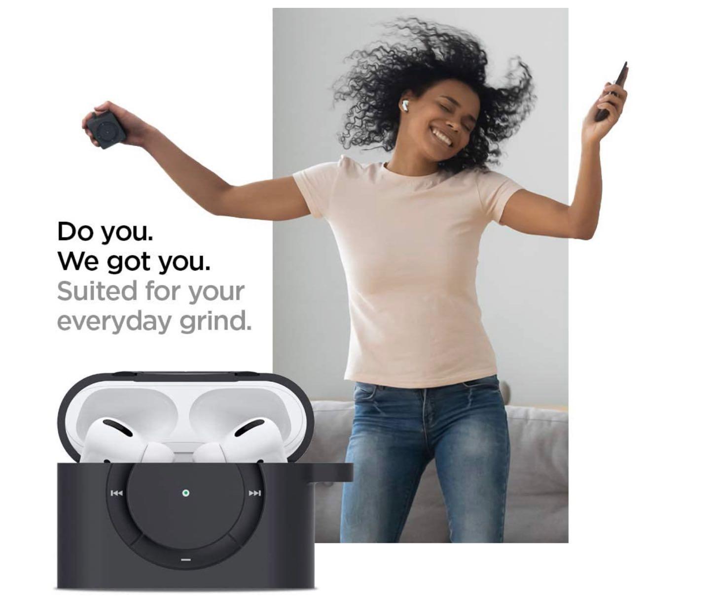 Apple AirPods Pro ケース カバー iPod shuffle 完全再現 カラビナ リング 付き シリコン 収納ケース−3