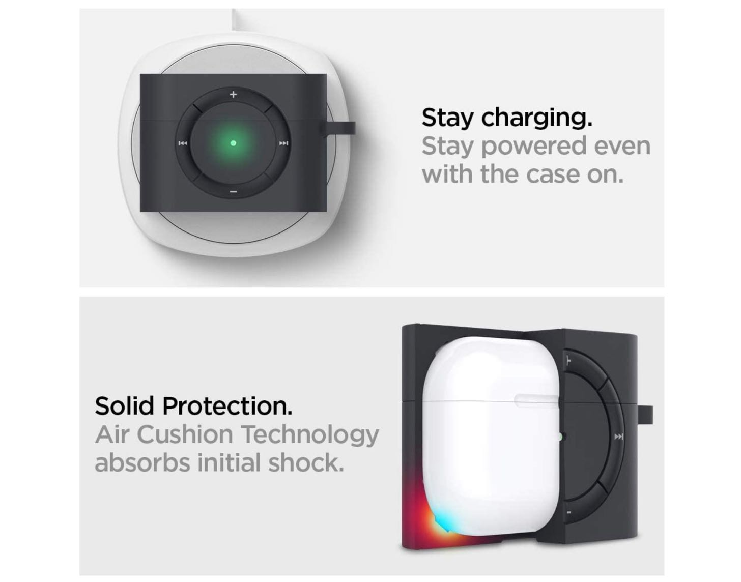 Apple AirPods Pro ケース カバー iPod shuffle 完全再現 カラビナ リング 付き シリコン 収納ケース−6