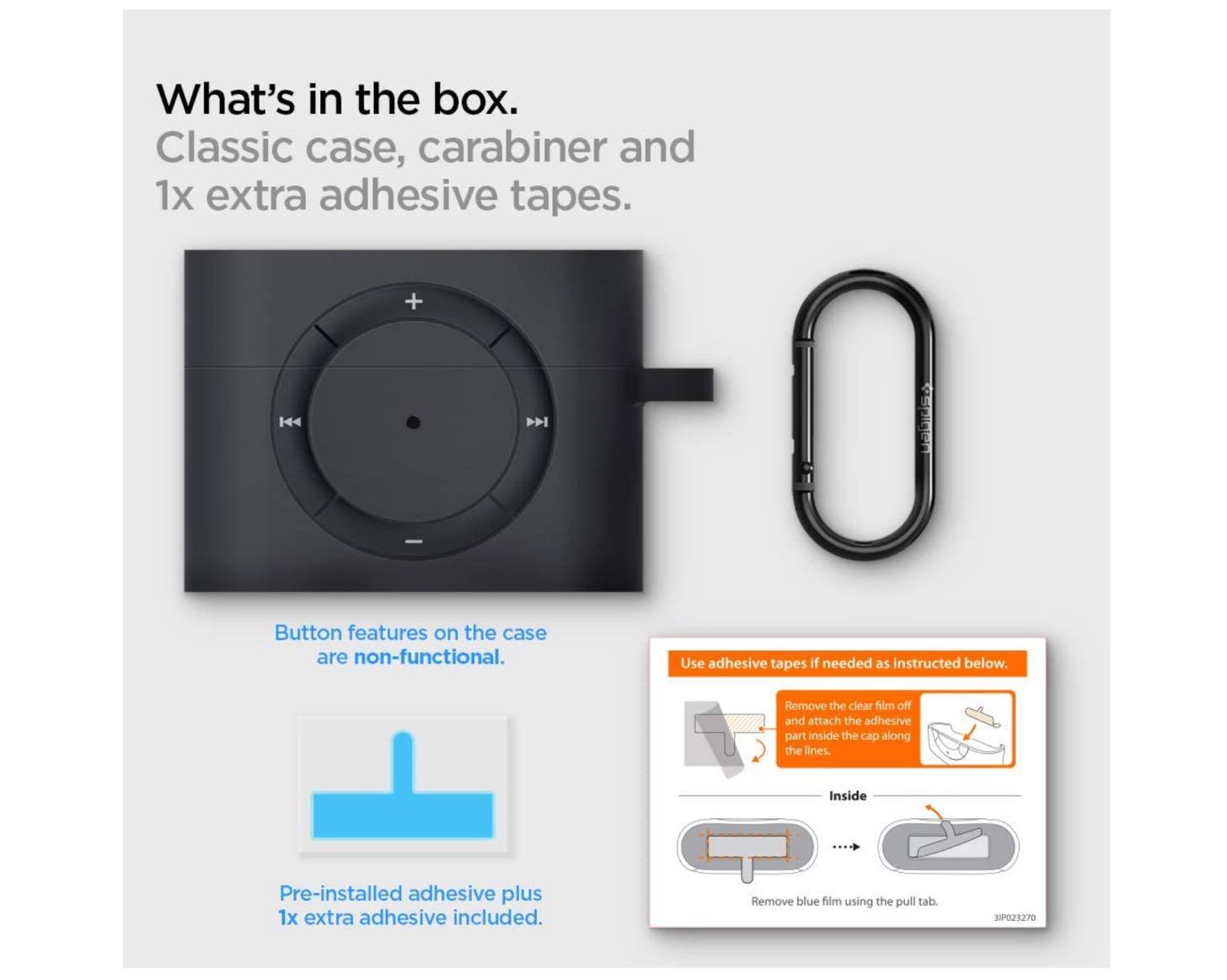 Apple AirPods Pro ケース カバー iPod shuffle 完全再現 カラビナ リング 付き シリコン 収納ケース−7