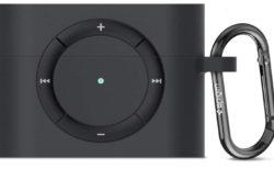 [AirPods Pro]新しい【Spigen】 AirPods Pro ケース カバー iPod shuffle 完全再現 カラビナ リング 付き シリコン 収納ケースを注文したよ
