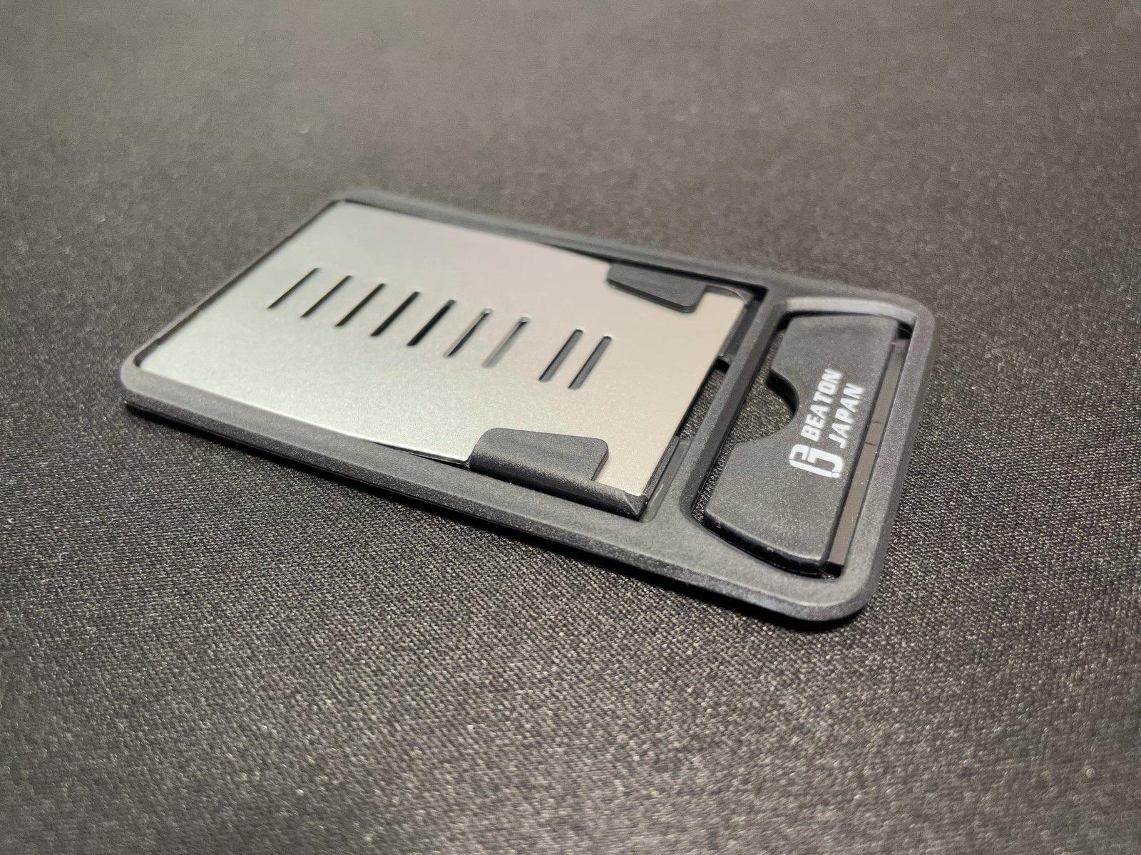 卓上折りたたみ式カード型スマホスタンド−4